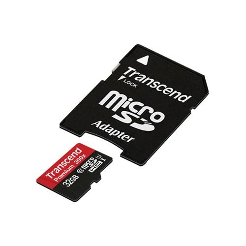 Transcend 32GB MicroSDHC UHS-I U1 Class 10 Hafıza Kartı + SD Adaptör