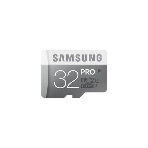 Samsung 32GB MicroSD Pro Class10 (90-80mb/sn) Hafıza Kartı + SD Adaptör MB-MG32EA/TR