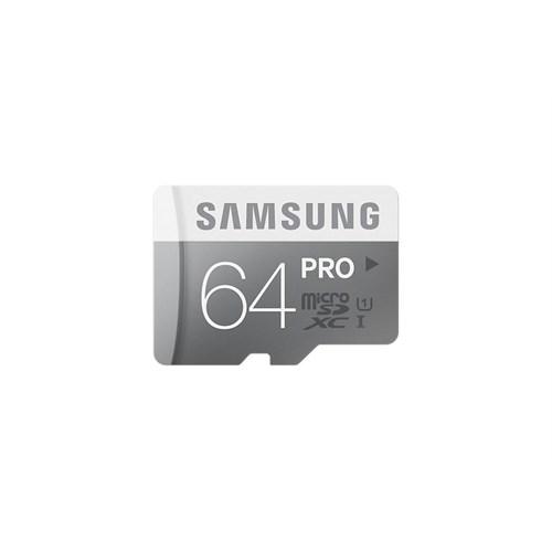 Samsung 64GB MicroSD Pro Class10 (90-80mb/sn) Hafıza Kartı + SD Adaptör MB-MG64EA/TR