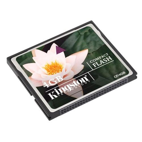 Kingston 4 GB Compact Flash Hafıza Kartı CF/4GB