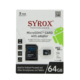 Syrox 64 Gb Micro Sd Card Hafıza Kartı Adaptörlü