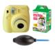 Fujifilm İnstax Mini 8 Sarı + 20'li Kağıt + Pompa