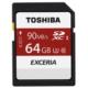 Toshiba 64GB SDXC UHS-1 C10 U3 90MB/sn (Exceria)