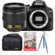 Nikon D3400 + 18-55 Lens + Hafıza Kartı + Çanta + Tripod