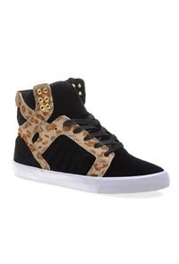 Corner Womens Skytop Sw18025 Kadın Ayakkabı Black Cheetah Whıte