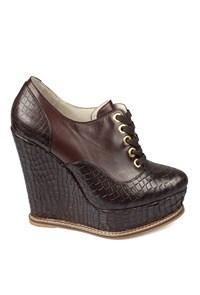 Matraş Kadın Topuklu Ayakkabı Kahve