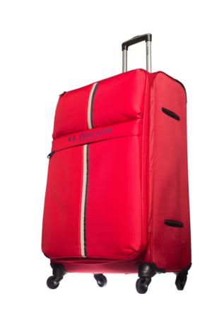 U.S.Polo Assn Kumaş Büyük Boy Valiz Mc0059 Kırmızı L(75*47*28)
