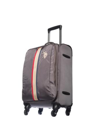 U.S.Polo Assn Kumaş Kabin Boy Valiz Mc0053 Gri S(55*36*21)