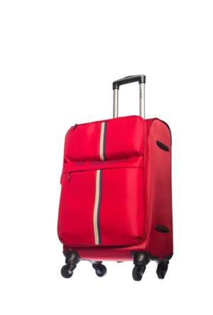 U.S.Polo Assn Kumaş Kabin Boy Valiz Mc0059 Kırmızı S(55*36*21)