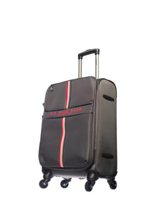 U.S.Polo Assn Kumaş Kabin Boy Valiz Mc0061 Gri S(55*36*21)