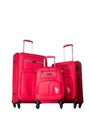 U.S.Polo Assn Kumaş Set Valiz Mc0019 Kırmızı L(75*47*28)M(65*43*25)S(55*36*21)