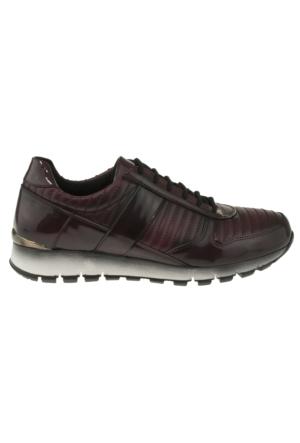 Gess 8650-1 Bağlı Casual Bordo Kadın Ayakkabı