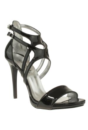 Alisolmaz 3050 Çift Toka Siyah Kadın Ayakkabı