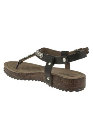 Muya 90194 Tasli P.a Siyah Kadın Sandalet