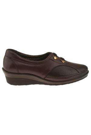 Forelli 26201 Cift Flex Bant Comfort Kahverengi Kadın Ayakkabı