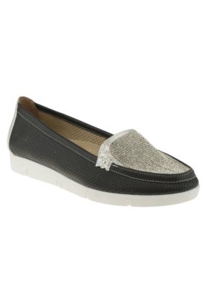 Floor 27Y16 On Tasli Siyah Kadın Ayakkabı