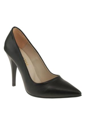 Alisolmaz 730-1 Stiletto Siyah Kadın Ayakkabı