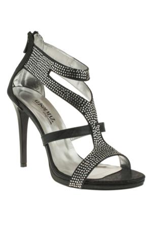 Alisolmaz 3023 Bantli Siyah Kadın Ayakkabı