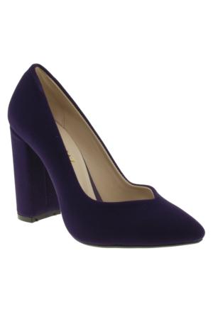 Alisolmaz 760-2 Sivri Burun Mor Kadın Ayakkabı