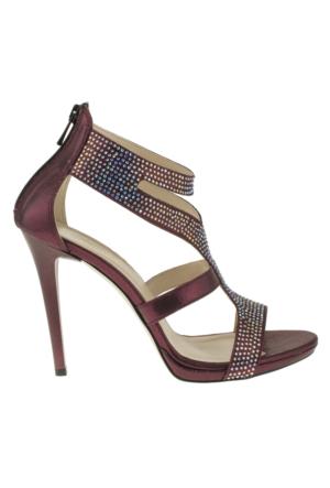 Alisolmaz 3023 Bantli Bordo Kadın Ayakkabı