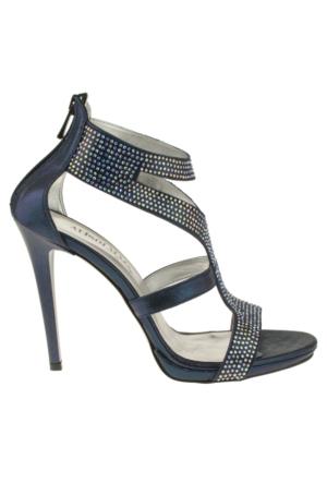 Alisolmaz 3023 Bantli Lacivert Kadın Ayakkabı