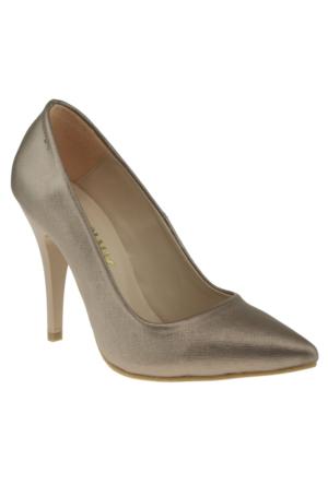 Alisolmaz 730-1 Stiletto Vizon Kadın Ayakkabı