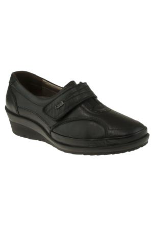 Forelli 26215 Tek Cirt Comfort Siyah Kadın Ayakkabı