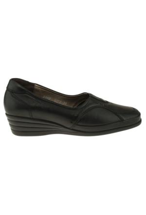 Forelli 3578 Tek Zimbali Comfort Siyah Kadın Ayakkabı