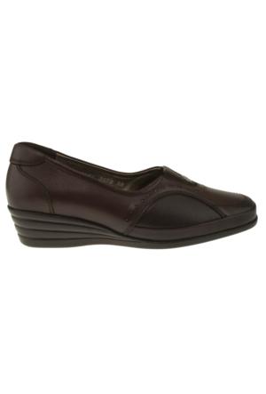 Forelli 3578 Tek Zimbali Comfort Kahverengi Kadın Ayakkabı