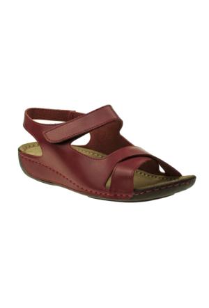 Muya 22273 Çapraz Bant Kırmızı Kadın Sandalet