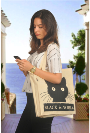 Tuander Black Is Noble Cloth Bag Bez Çanta