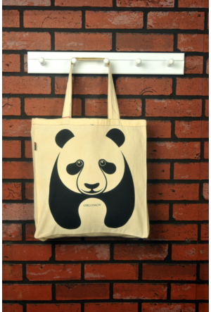 Tuander Panda Cloth Bag Bez Çanta