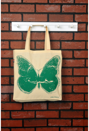 Tuander Butterfly 'Green' Cloth Bag Bez Çanta