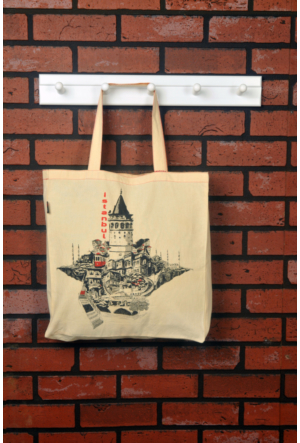 Tuander Galata Tower Cloth Bag Bez Çanta