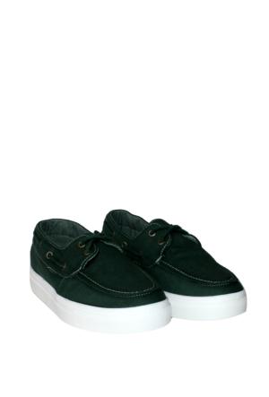 Dosteli Ayakkabı Yeşil Spery Bayan Keten Ayakkabı-140