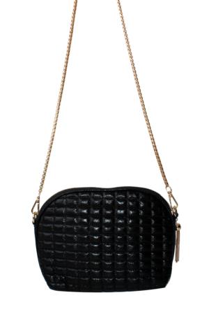 Nas Çanta Siyah Simli Omuz Askılı Bayan Çanta-539