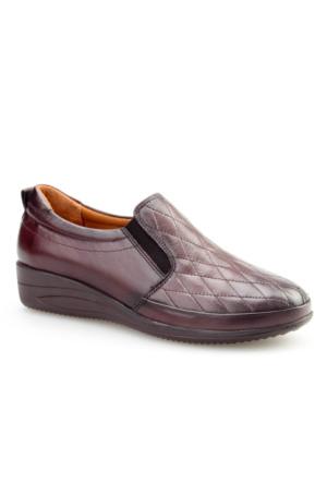 Cabani Comford Günlük Kadın Ayakkabı Kahverengi Analin Deri