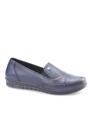 Cabani Comford Günlük Kadın Ayakkabı Lacivert Deri