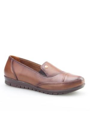 Cabani Comford Günlük Kadın Ayakkabı Taba Deri