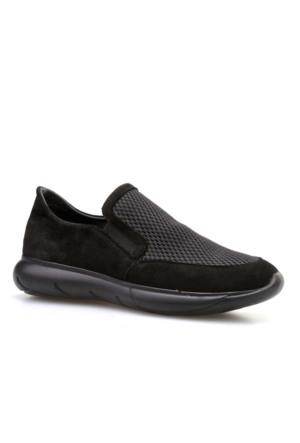 Cabani Bez Günlük Kadın Ayakkabı Siyah Süet