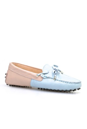 Cabani Fiyonklu Günlük Kadın Ayakkabı Pembe Deri