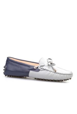 Cabani Fiyonklu Günlük Kadın Ayakkabı Lacivert Deri