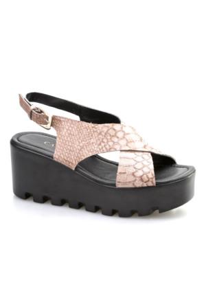 Cabani Tokalı Günlük Kadın Ayakkabı Bej