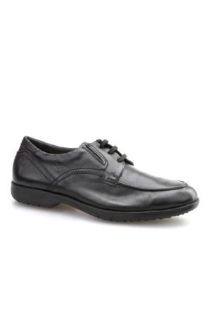 24 Hrs 24 Hrs Esnek Günlük Erkek Ayakkabı Siyah Deri