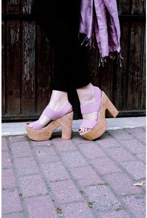 Sofistiqe Stella Pudra Topuklu Sandalet