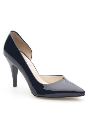 Sofistiqe Lacivert Rugan Ayakkabı