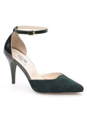 Sofistiqe Yeşil Topuklu Ayakkabı