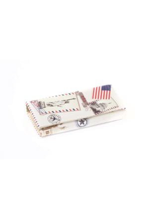 Eos Amerikan Bayraklı Baskılı Cüzdan