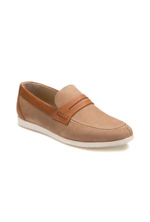 Garamond Ey-1 M 6683 Bej Erkek Nubuk Deri Modern Ayakkabı