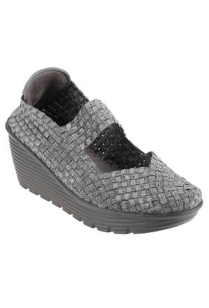 Art Bella Bobby Gri Kadın Ayakkabı